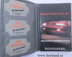 1989 Pontiac Bonneville Owners Manual