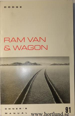 1991 Dodge Ram Van & Wagon Owner's Manual