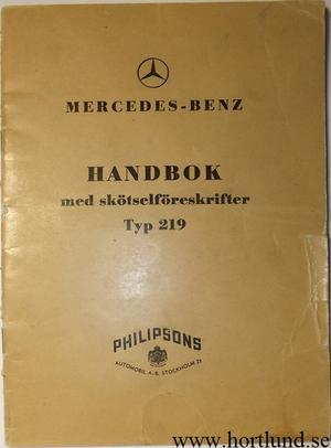 1956 Mercedes-Benz 219 Handbok