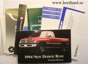 1994 Dodge Ram Owner's Manual