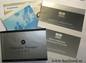 1995 Chrysler Voyager Instruktionsbok svensk