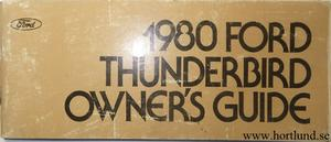1980 Ford Thunderbird Owner's Manual