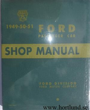 1949-1951 Ford car Shop Manual