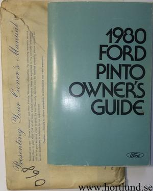 1980 Ford Pinto Owner's Guide