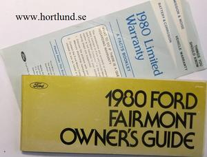 1980 Ford Fairmont Owner's Guide