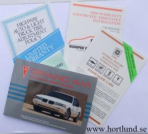 1990 Pontiac Grand Am Owners Manual
