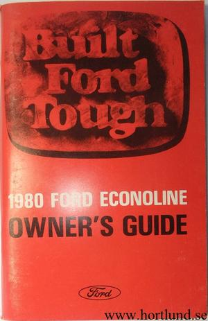 1980 Ford Econoline Van Owners Guide