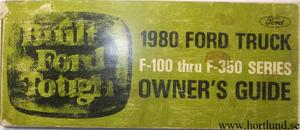 1980 Ford Truck F-100-350 Owner's Guide