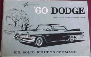 1960 Dodge Polara & Matador Owners Manual