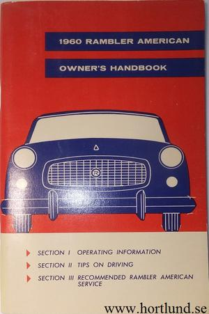 1960 Rambler American Owner's Manual