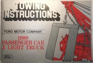 1980 FoMoCo Towing Instructions