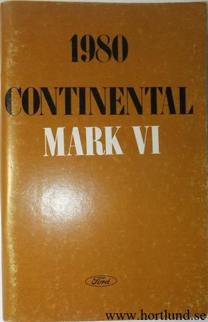 1980 Lincoln Continental Mark IV Owners Manual
