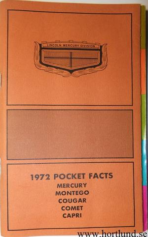 1972 Mercury Pocket Facts