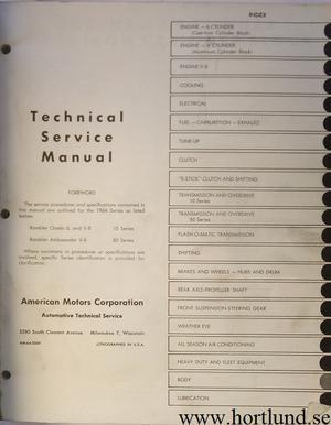 1964 Rambler Classic och Ambassador Technical Service Manual
