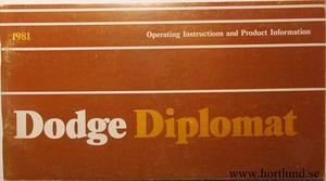 1981 Dodge Diplomat Operating Instructions