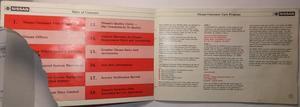 1986 NISSAN Warranty Information