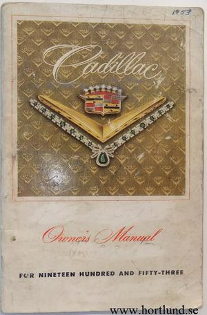 1953 Cadillac Owner's Manual