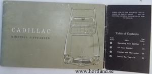 1957 Cadillac Owners manual