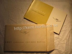 1957 Cadillac Owners manual in original envelope