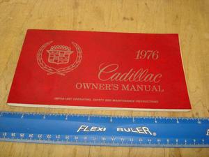 1976 Cadillac Owners Manual