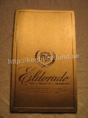 1982 Cadillac Eldorado Owners Manual
