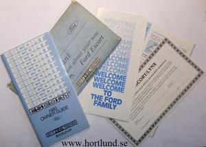 1983 Ford Escort Owner's Guide