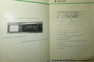 1970-tal Toyota Car Radio Instruction Manual