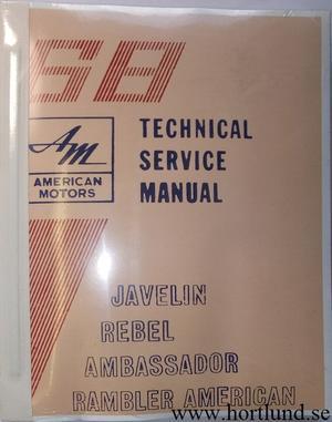 1968 Rambler American Javelin Rebel Ambassador Technical Service Manual