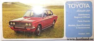 1971 Toyota Dealer list