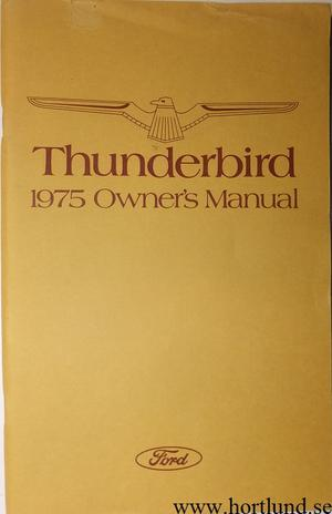 1975 Ford Thunderbird Owners Manual