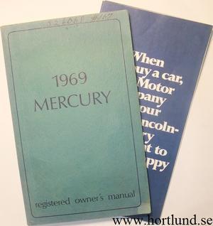 1969 Mercury Full Size Owners Manual