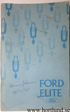 1975 Ford Elite Owners Manual