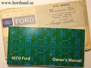 1970 Ford full size Owners Manual