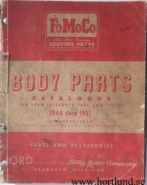 1944-1951 Ford cars and Trucks  Body Parts Catalogue
