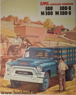1955 GMC 300 300-8 M300 M300-8 Truck Broschyr