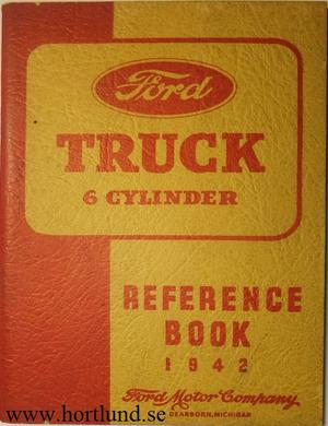 1942 Ford Truck 6 cylinder Reference Book