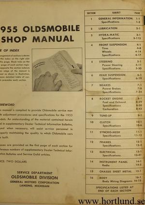 1955 Oldsmobile Shop Manual original