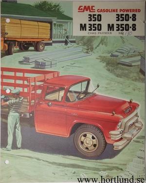 1955 GMC 350 350-8 M350 M350-8 Truck Broschyr
