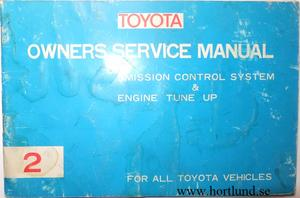 1972 Toyota Owners Service Manual alla modeller