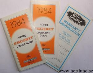 1984 Ford Escort Owner Guide