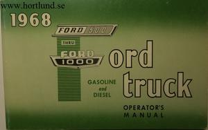 1968 Ford Truck 500-1000 Operator's Manual