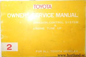 1973 Toyota Owners Service Manual alla modeller