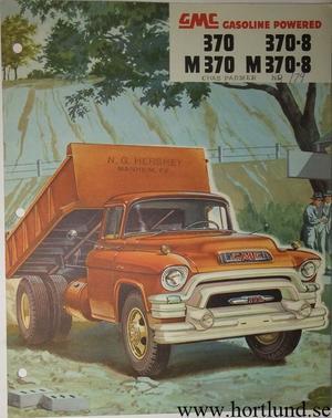1955 GMC 370 370-8 M370 M370-8 Truck Broschyr