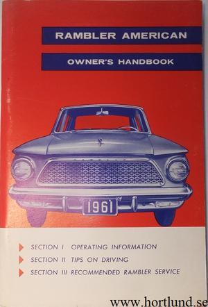1961 Rambler American Owner's Handbook