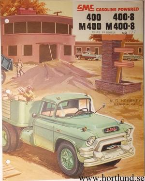 1955 GMC 400 400-8 M400 M400-8 Truck Broschyr