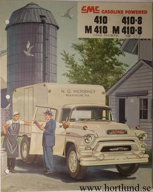 1955 GMC 410 410-8 M410 M410-8 Truck Broschyr