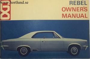 1968 AMC Rebel Owner's Manual