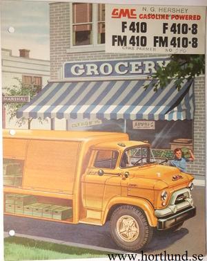 1955 GMC F410 F410-8 FM410 FM410-8 Truck Broschyr