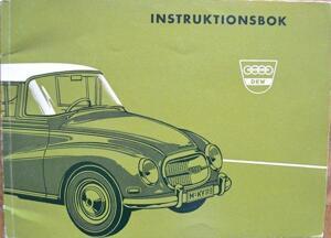 1960 DKW AU 1000 Instruktionsbok svensk