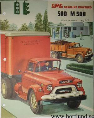 1955 GMC 500 M500 Truck Broschyr